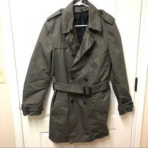 ZARA Men's Belted trench coat